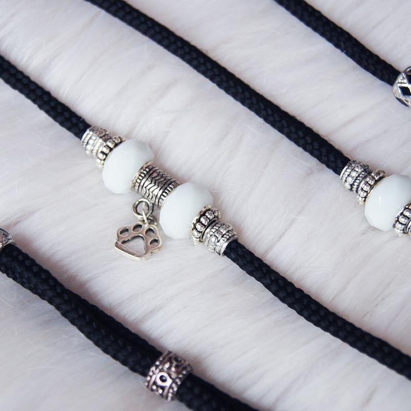Show lead - ozdobna ringówka wystawowa, 5 mm x 120 cm, czarna