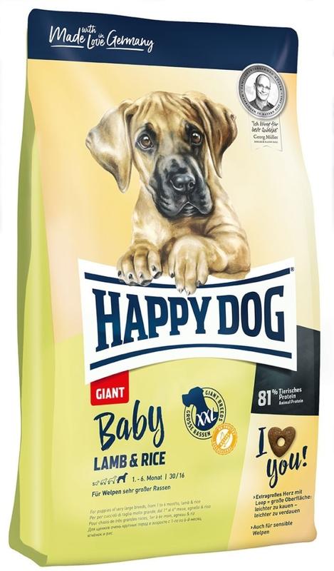 HAPPY DOG Baby Giant - sucha karma dla szczeniąt dużych ras 15 kg
