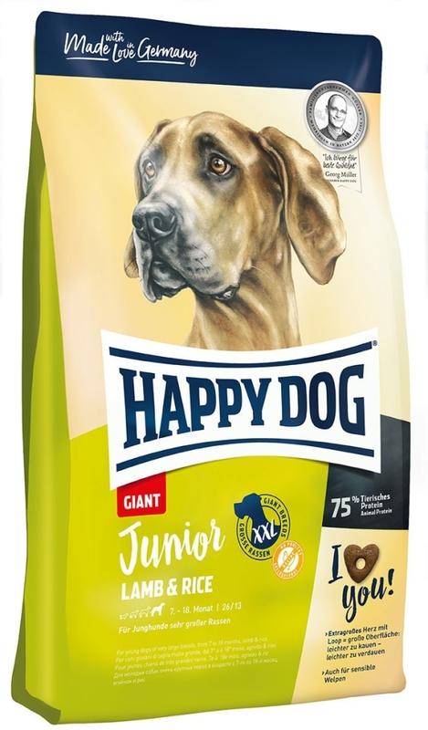 HAPPY DOG Junior Giant - sucha karma dla młodych psów dużych ras 15 kg