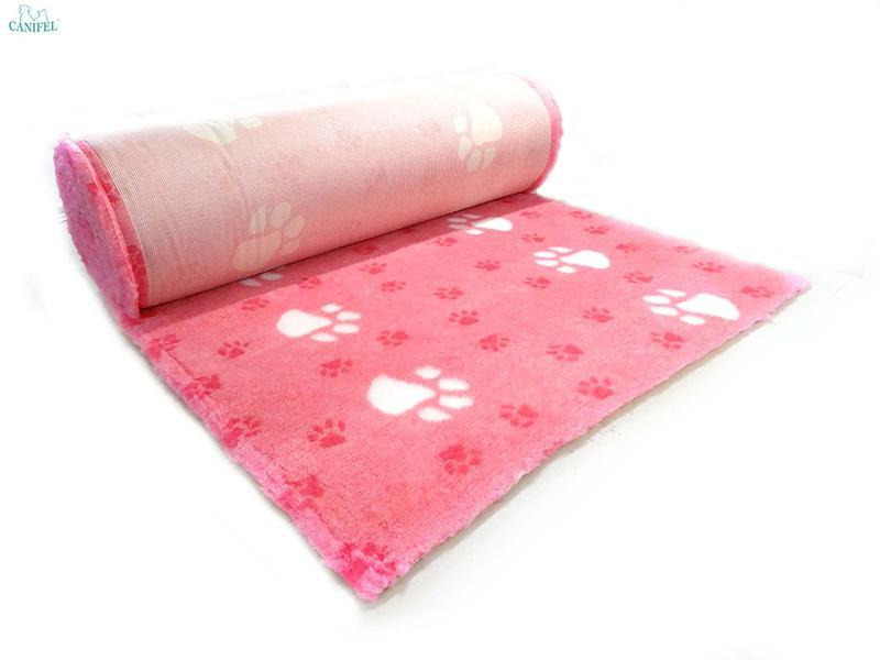 DRY BED Big Paws Biało/Różowy - posłanie dla psów i kotów