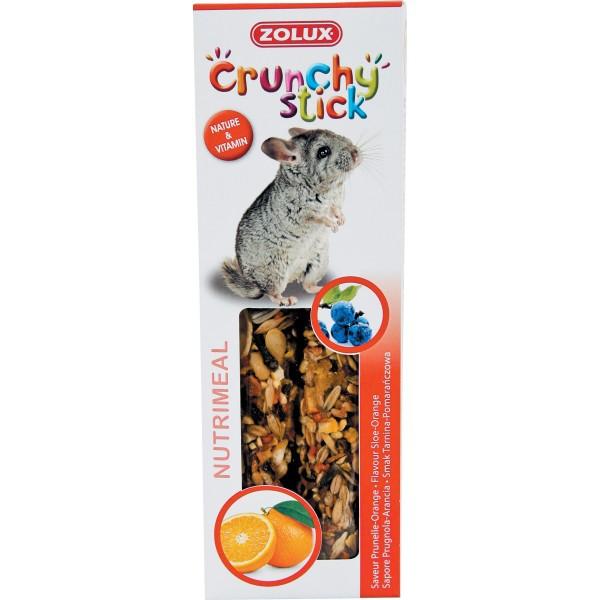 ZOLUX Crunchy Stick - kolby dla szynszyli, tarnina i pomarańcza