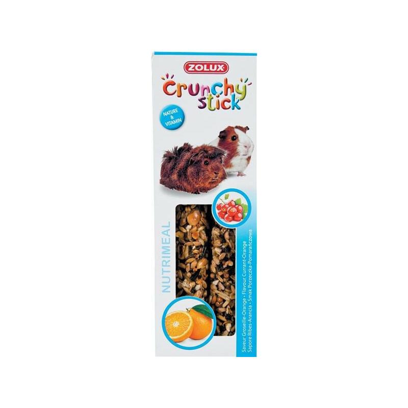 ZOLUX Crunchy Stick - kolby dla świnki morskiej, porzeczka i pomarancza