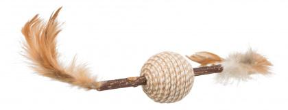 TRIXIE Zabawka Matatabi z piórkami i piłką dla kota