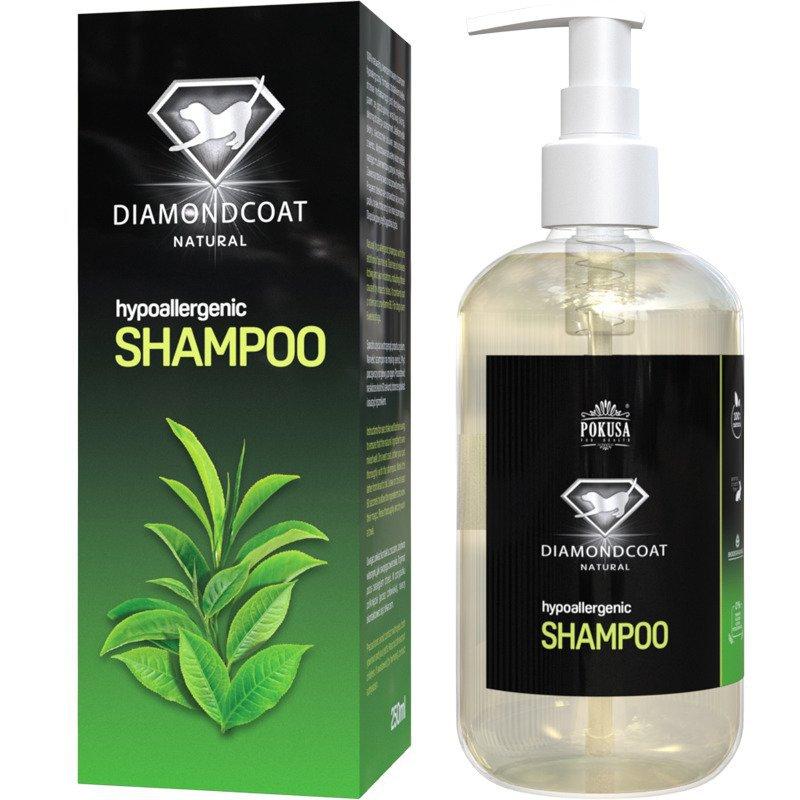 POKUSA DiamondCoat Hypoallergenic Shampoo - delikatny, naturalny szampon hypoalergiczny, 250 ml