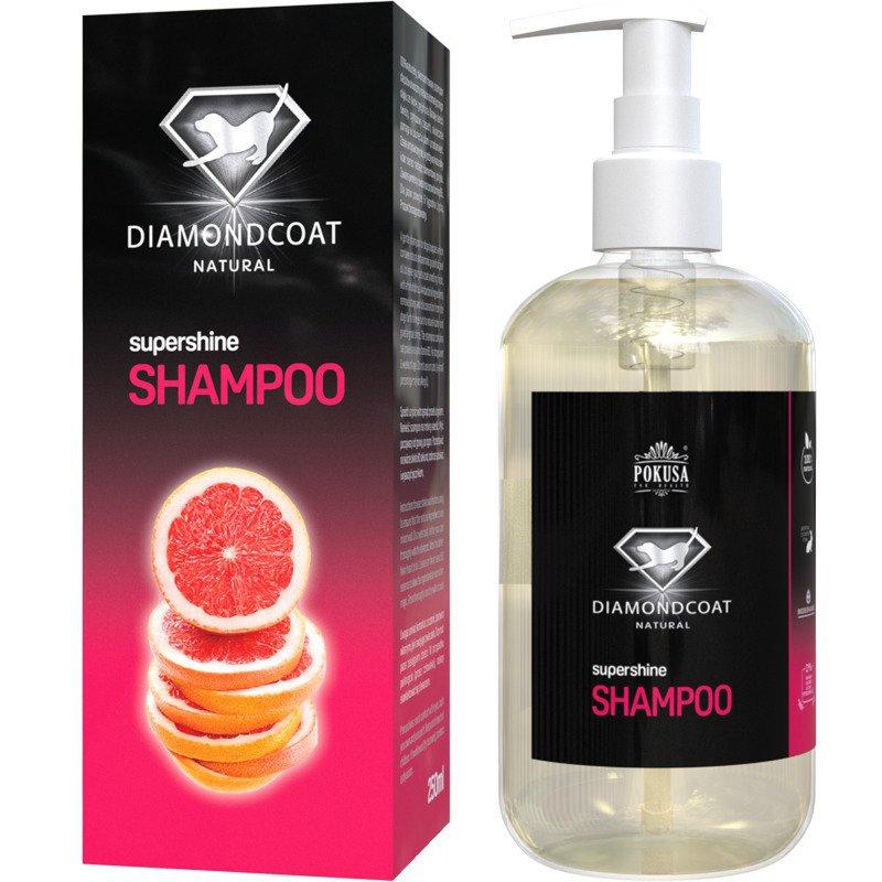 POKUSA DiamondCoat SuperShine Shampoo - naturalny szampon, dodający połysku, usuwający przebarwienia, 250 ml
