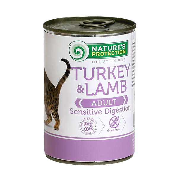 NATURE'S PROTECTION Turkey&Lamb Sensitive Digestion mokra karma dla kota puszka 400g