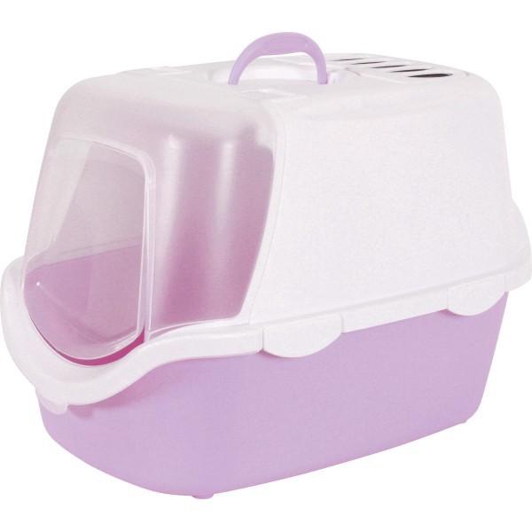 ZOLUX Toaleta CATHY Easy Clean z filtrem dla kota, liliowa