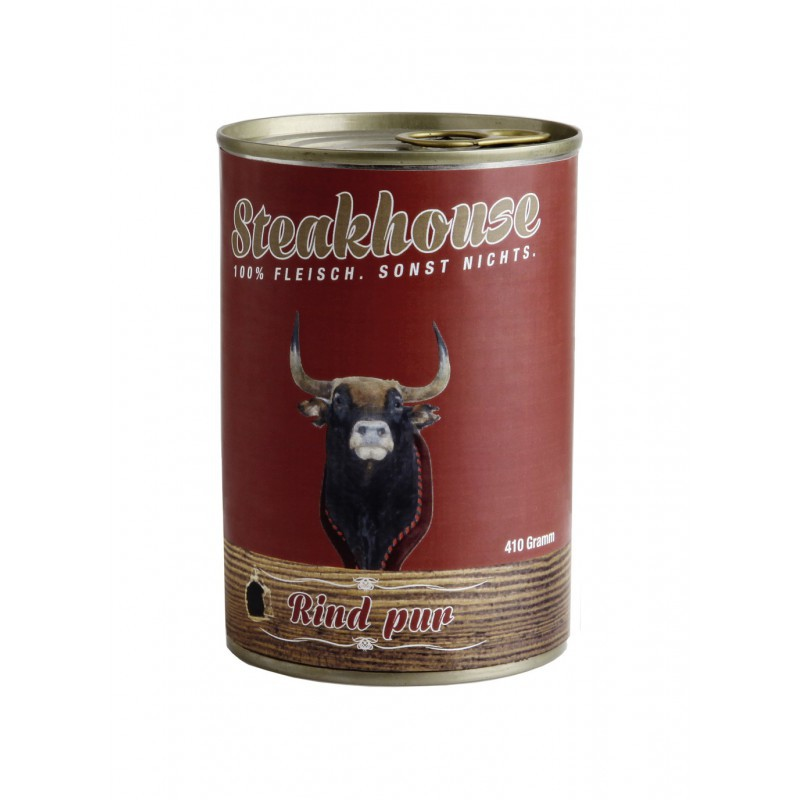 MEATLOVE Steakhouse Pure Beef mokra karma dla psa 410g i 820g