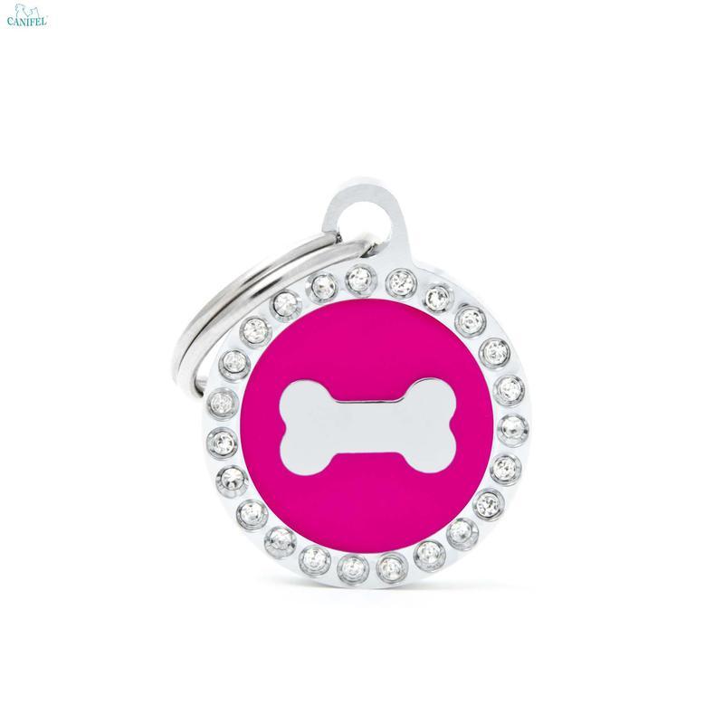MY FAMILY Glam Pink Bone - adresówka dla psa