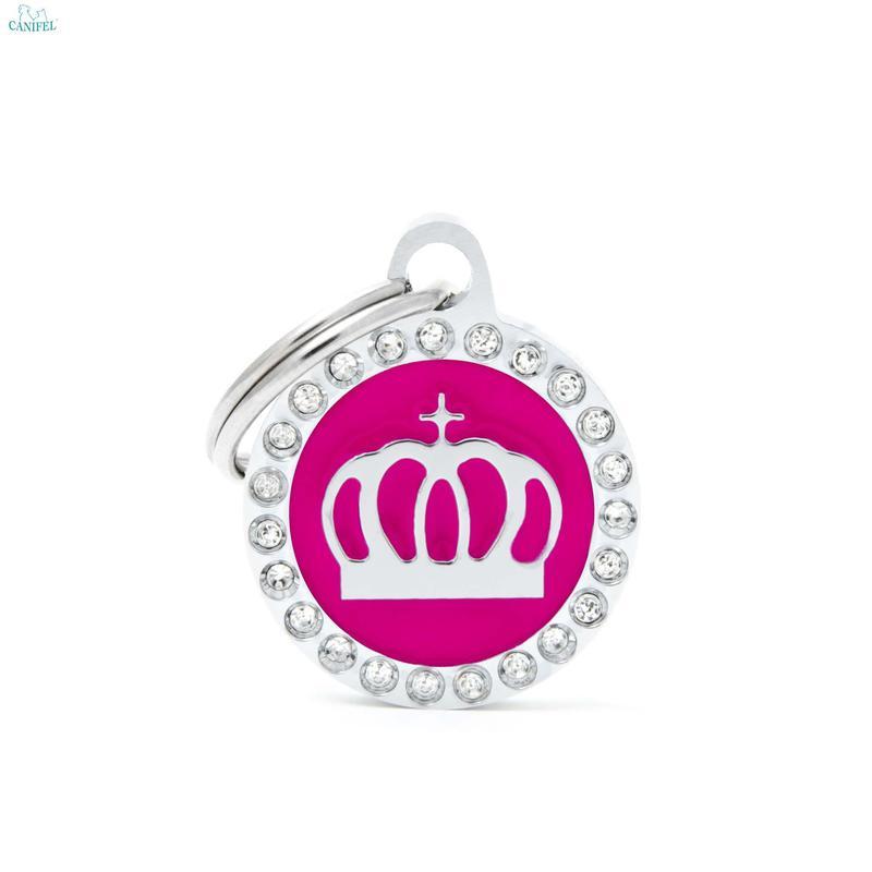 MY FAMILY Glam Pink Crown - adresówka dla psa