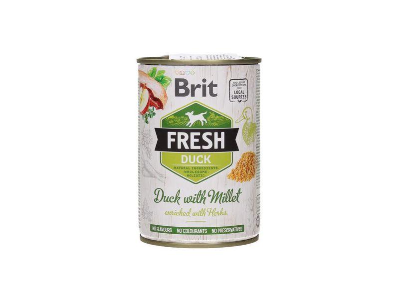BRIT Fresh Duck with Millet mokra karma dla psa, puszka 400g
