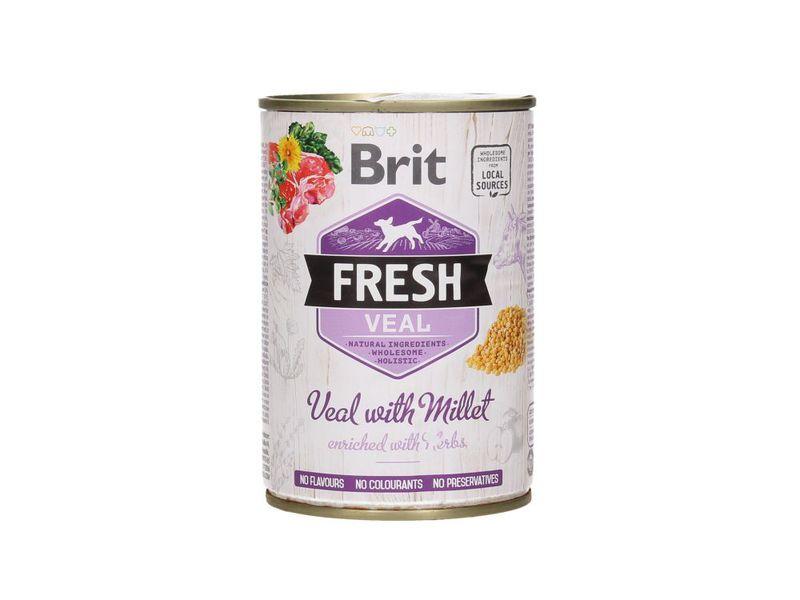 BRIT Fresh Veal with Millet mokra karma dla psa, puszka 400g