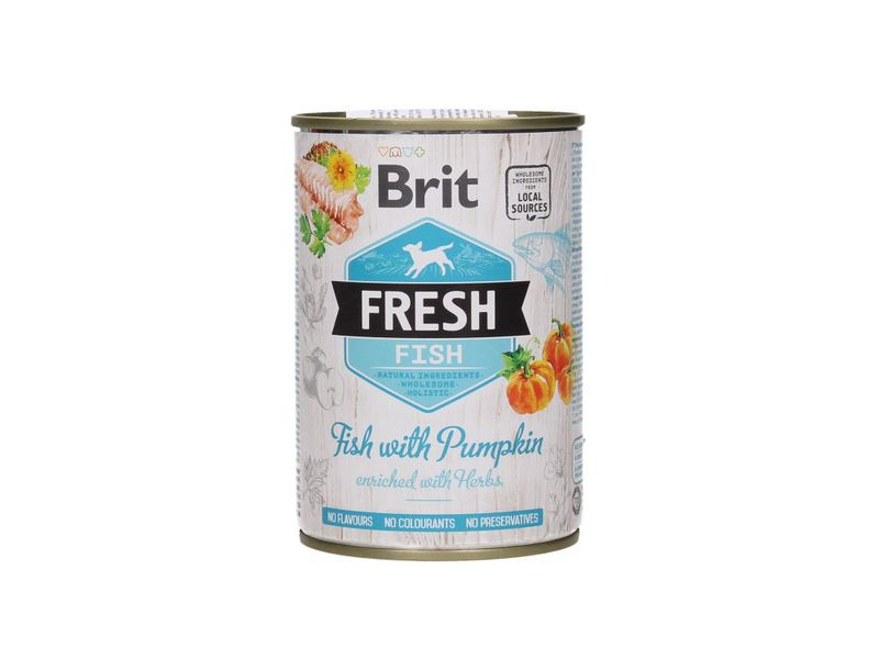 BRIT Fresh Fish with Pumpkin mokra karma dla psa, puszka 400g