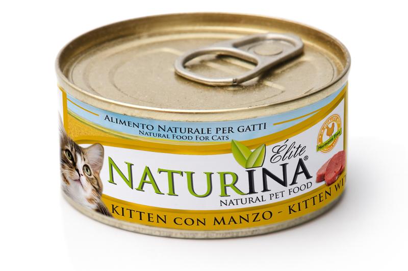 NATURINA Kitten 70g kurczak z jajkiem i wołowiną