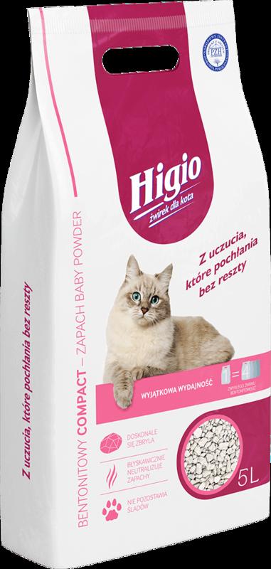 HIGIO Compact Baby Powder - Żwirek Bentonitowy 5L