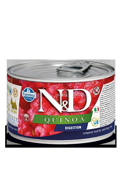 FARMINA Quinoa Digestion mokra karma dla psa, puszka 140g i 285g