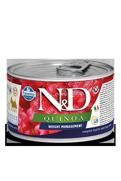 FARMINA Quinoa Weight Managment mokra karma dla psa, puszka 140g i 285g