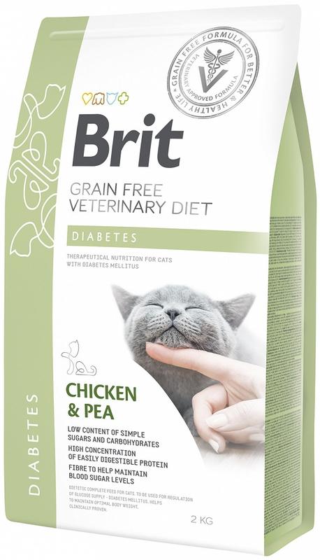 BRIT Grain-Free Veterinary Diet Diabetes sucha karma dla kota 400g, 2kg i 5kg