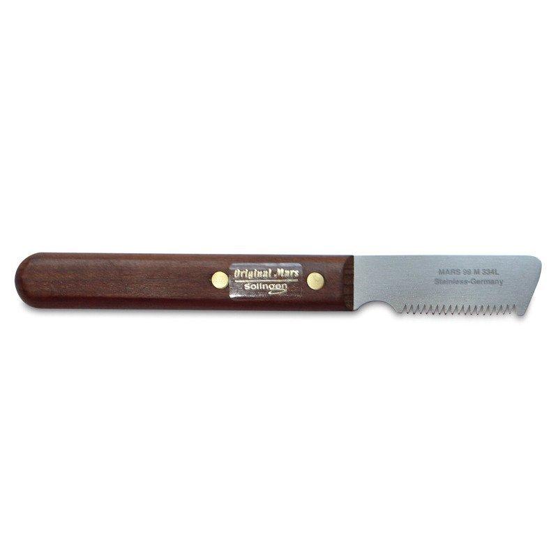MARS - trymer nożykowy drewniany, dla ras szorstkowłosych (99M-334), dla leworęcznych
