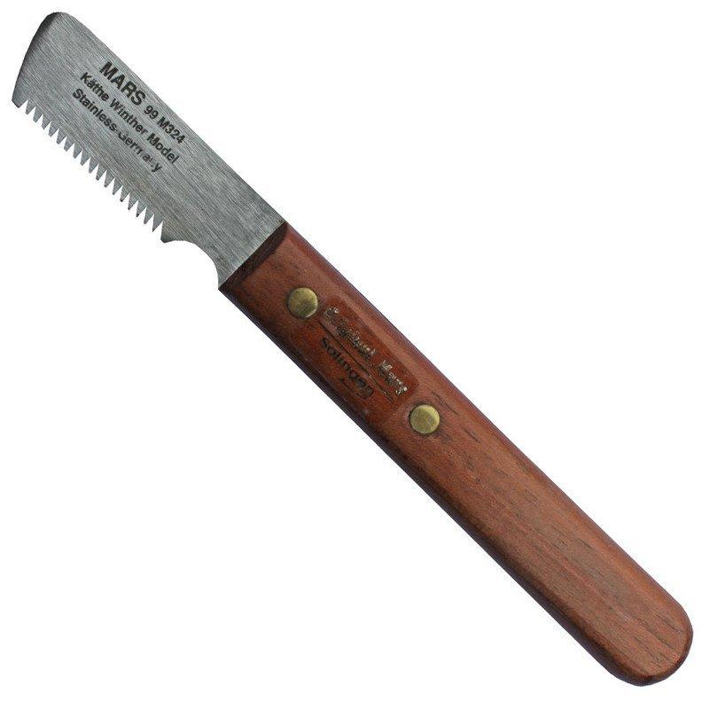 MARS - trymer nożykowy drewniany, dla ras szorstkowłosych (99M-324)