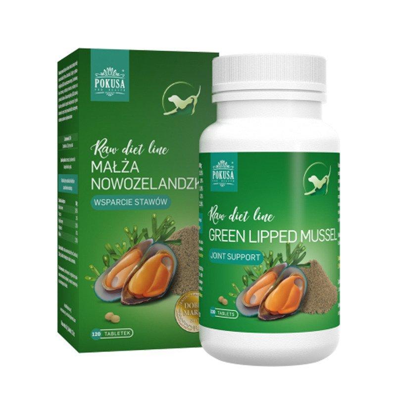 POKUSA RawDietLine - małża nowozelandzka w tabletkach, 120 tabletek
