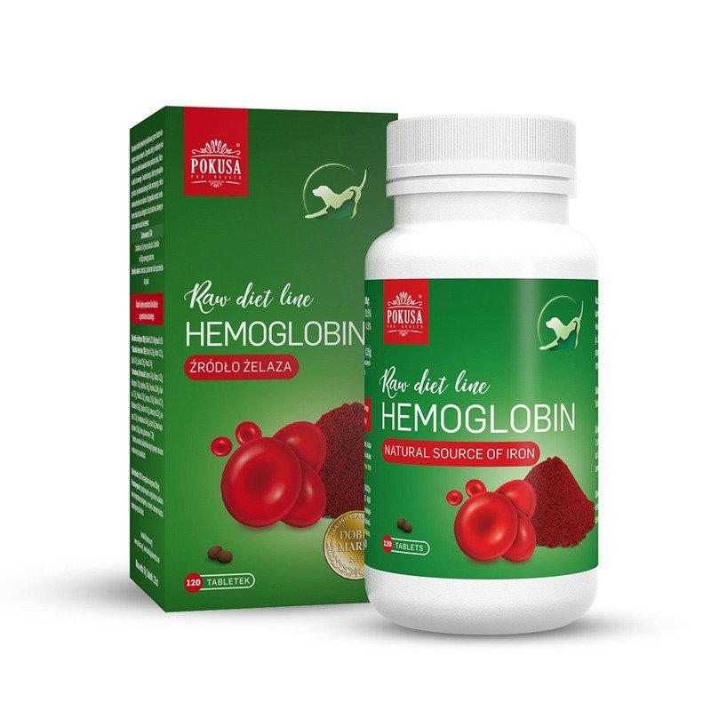 POKUSA RawDietLine - hemoglobina w tabletkach, 120 tabletek
