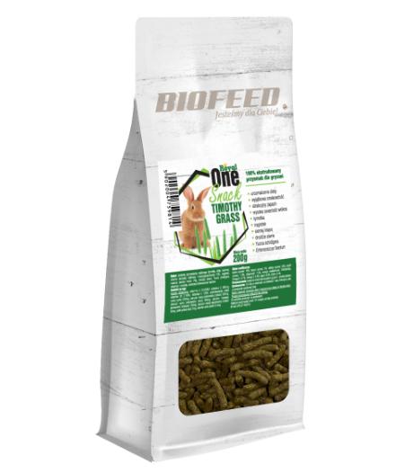 BIOFEED Royal One Snacks Timothy Grass - smaczne snacki dla wszystkich gryzoni, 200g