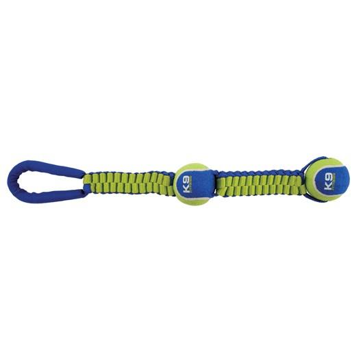 ZEUS K9 Fitness Ballistic Przeciągacz z dwoma piłkami tenisowymi