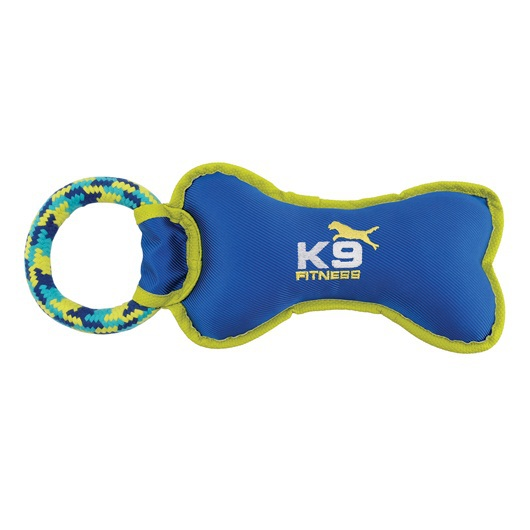 ZEUS K9 Fitness Nylon Bone - Kość nylonowa z pętlą ze sznura, 30 cm