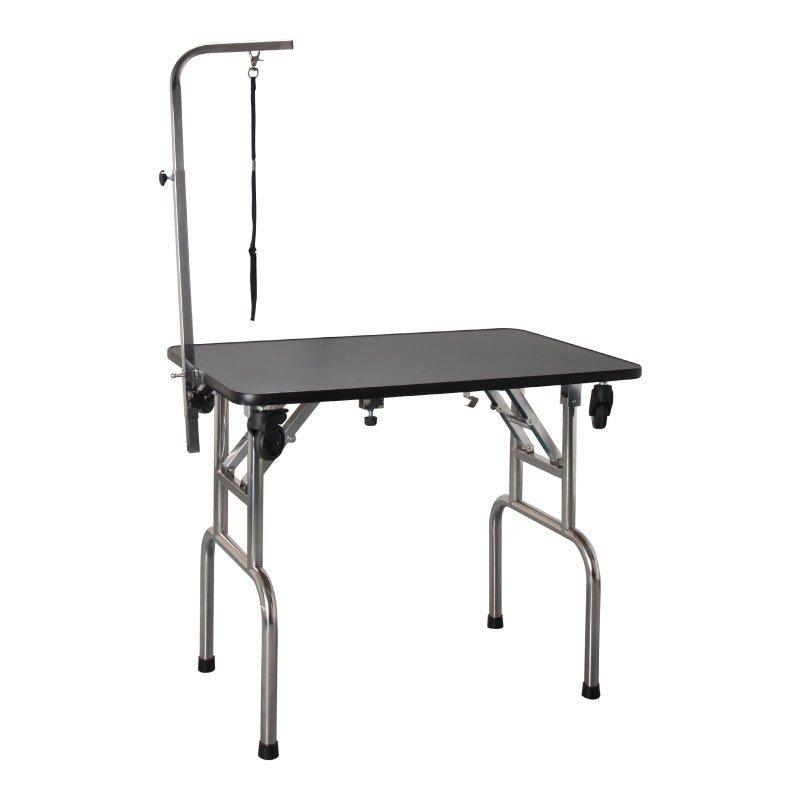 SHERNBAO - stół przenośny, składany, z kółkami, blat 90 cm x 60 cm
