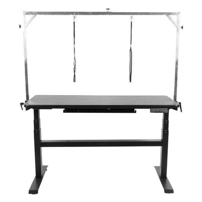 SHERNBAO - stół z podnośnikiem elektrycznym, blat 120 cm x 60 cm, kolor czarny