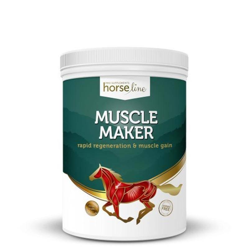 HORSELINE PRO Muscle Maker - wieloskładnikowa mieszanka paszowa, zapewniająca szybką rozbudowę zdrowej i silnej muskulatury, 1200g