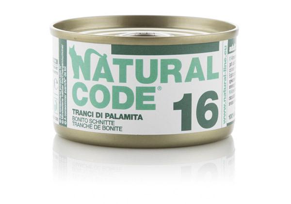 NATURAL CODE 16 puszka 85g plasterki z bonito, mokra karma dla kota