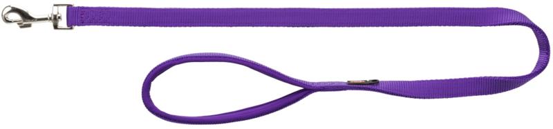 TRIXIE Smycz Premium - smycz z podwójnej taśmy dla psa, fioletowa
