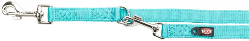 TRIXIE Premium - smycz regulowana dla psa z podwójnej taśmy, morski błękit