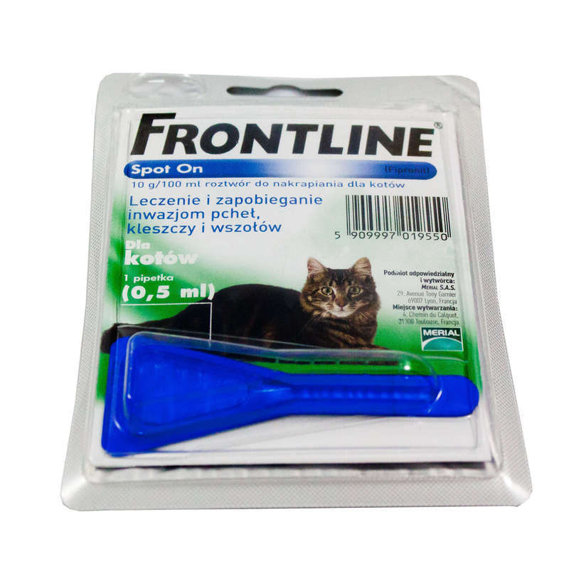 FRONTLINE - krople przeciw insektom dla kotów  ( 1 pipeta)
