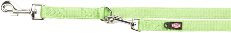 TRIXIE Premium - smycz regulowana dla psa z podwójnej taśmy, jabłkowa