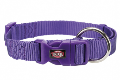 TRIXIE Premium - Obroża regulowana z taśmy, kolor fioletowy