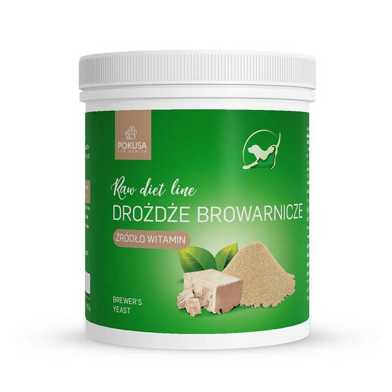 POKUSA Raw Diet Line Drożdże browarnicze - organiczne, czyste drożdże browarnicze