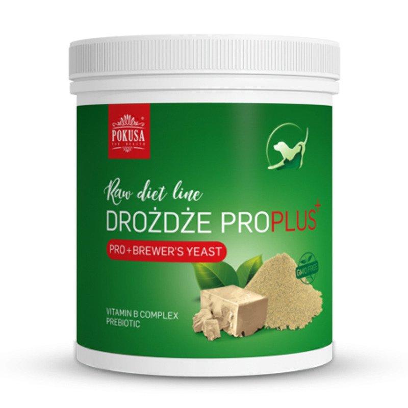 POKUSA Raw Diet Line Drożdże browarnicze ProPlus - naturalne witaminy z grupy B wzbogacone o prebiotyki