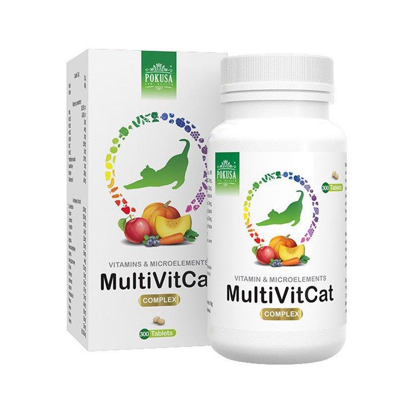 POKUSA MultiVit Cat - Naturalne witaminy i minerały dla kota, 300tab