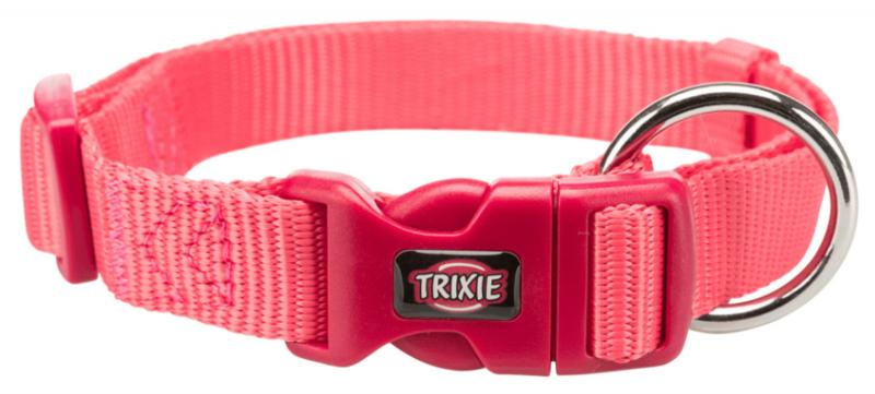 TRIXIE Premium - Obroża regulowana z taśmy, kolor koralowy