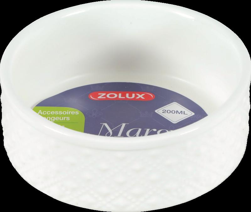 ZOLUX Margot - Miska gresowa dla gryzoni, kolor biały