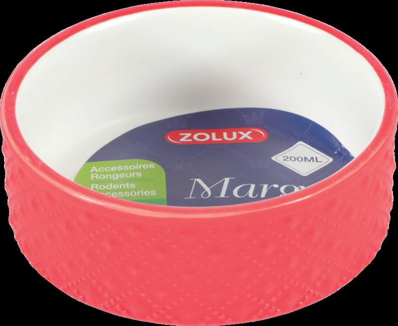 ZOLUX Margot - Miska gresowa dla gryzoni, kolor czerwony