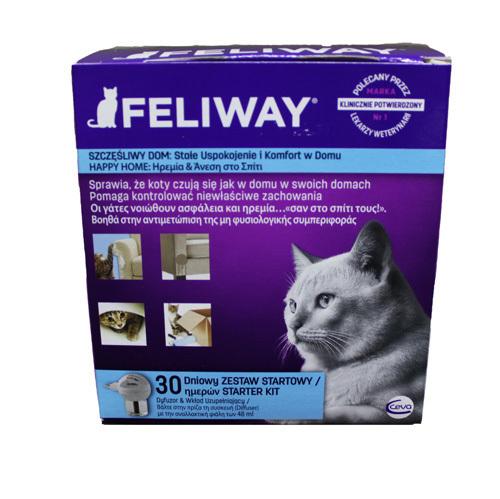 FELIWAY - Kocie Feromony Policzkowe - CEVA - dyfuzor 48 ml KOMPLET