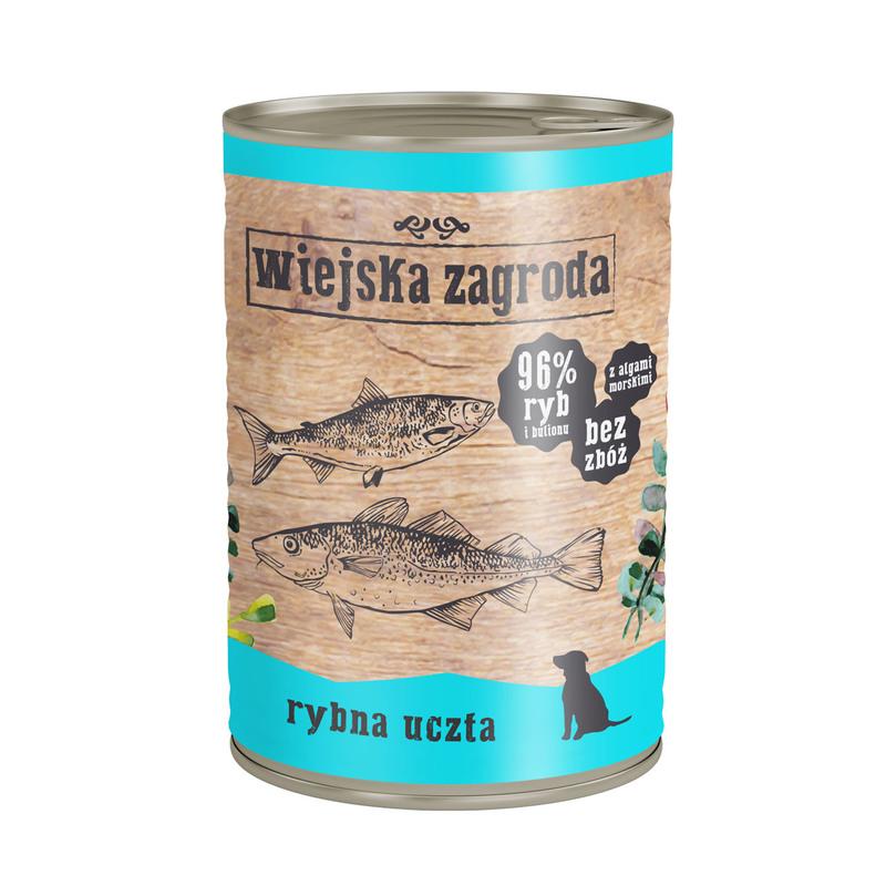 Wiejska Zagroda Rybna uczta 400g mokra karma dla psa