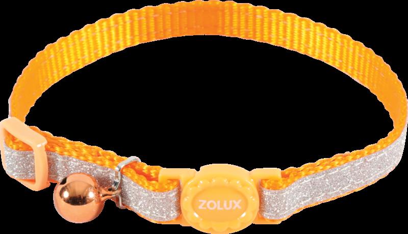 ZOLUX Obroża dla kota SHINY w kolorze pomarańczowym