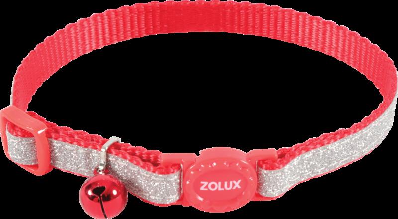 ZOLUX Obroża dla kota SHINY w kolorze czerwonym