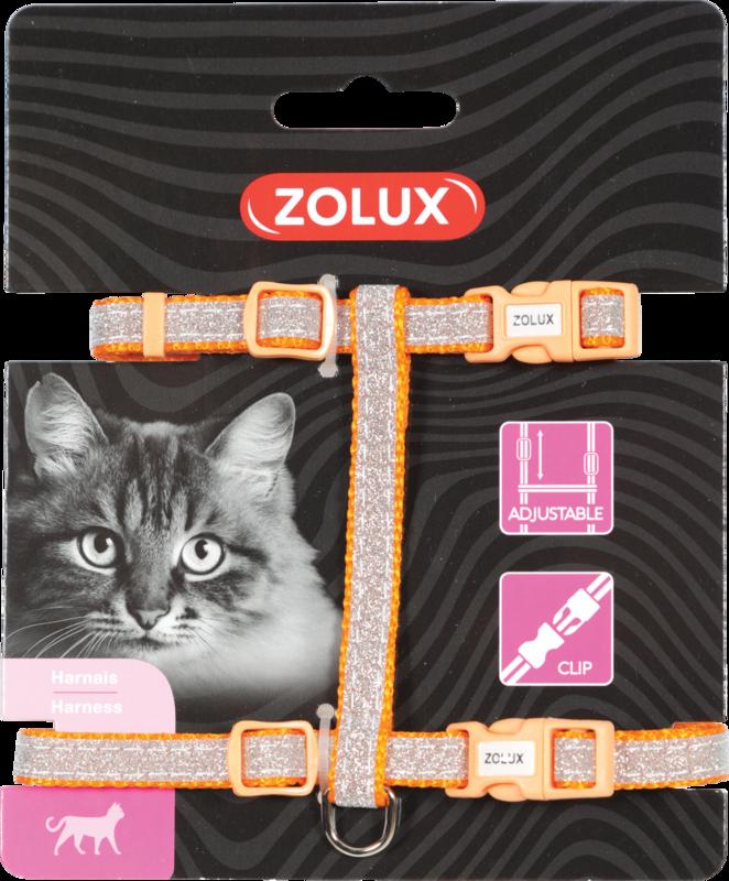 ZOLUX Szelki dla kota Shiny w kolorze pomarańczowym