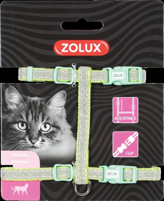 ZOLUX Szelki dla kota Shiny w kolorze zielonym